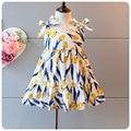 Korean 2016 Summer Wear New Pattern Girl Children's Garment Girl Baby Tulips Flower Straps Camisole Skirt Sy Beach Skirt
