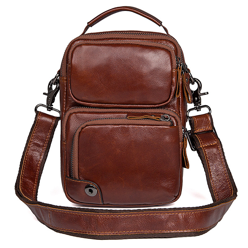 Genuine Leather Mens Bags Small Flap Casual Messenger Bag Male Crossbody Bags Designer Brand Men's Shoulder Bag Business Handbag цена