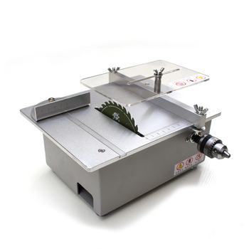 Sliver Dual Motor Mini Table Saw Woodworking DIY Desktop Saw Table Cutter