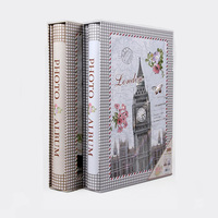 6 Inch Classical Eiffel Tower Photo Album 300 Sheets Interleaf Type Scenery Family Photo Album Scrapbook With Message Zone
