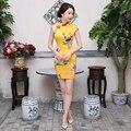 Free shipping chinese qipao dresses Short Cheongsam chinese dress Oriental Style Dress 4 Style