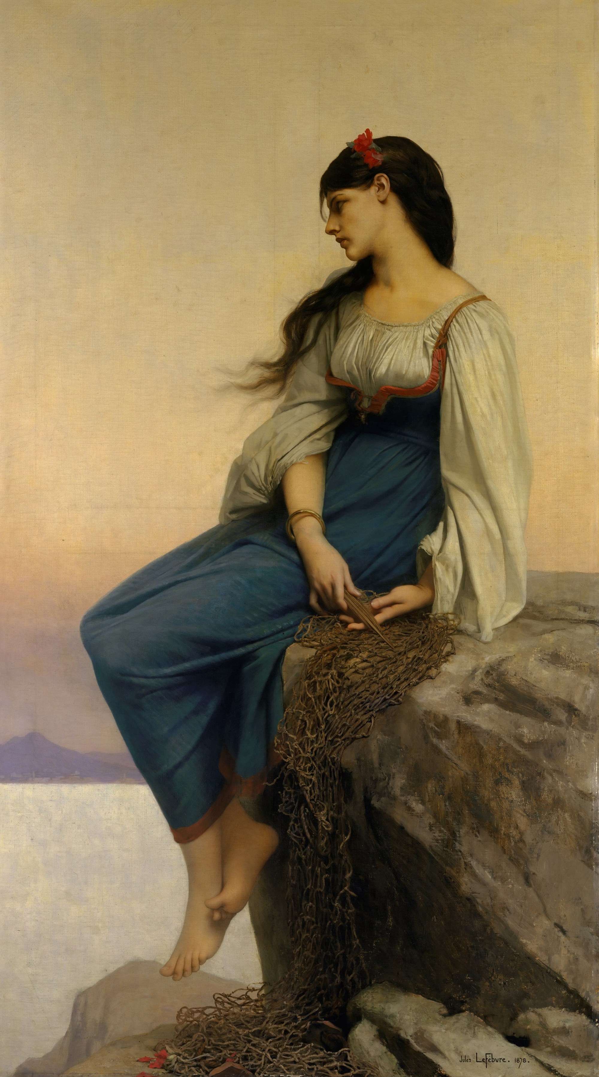 GOOD quality # HOME OFFICE wall Decorative art # Middle East Turkey Graziella BY JULES JOSEPH LEFEBVRE 1878 PRINT ART PAINTING