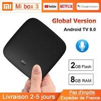 Xiaomi MI Box 3 Android TV 8.0 BT Dual Band WIFI Quad core MI Box 3 Google Certified Voice Search Android TV 8.0 Xiaomi MI Box 3