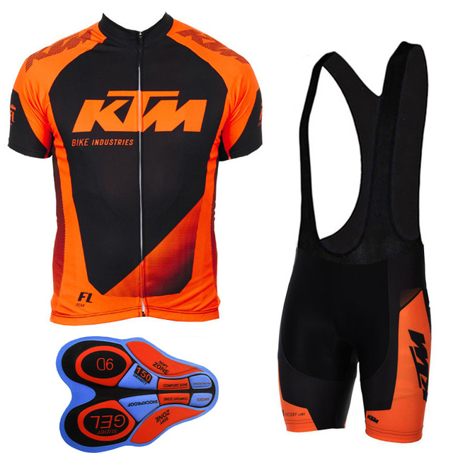 Pro 2018 KTM Team Cycling Jersey Short Sleeve Set Bicycle Clothing Bike Clothes Men mountain shirts ropa ciclismo bib shorts G31 цена