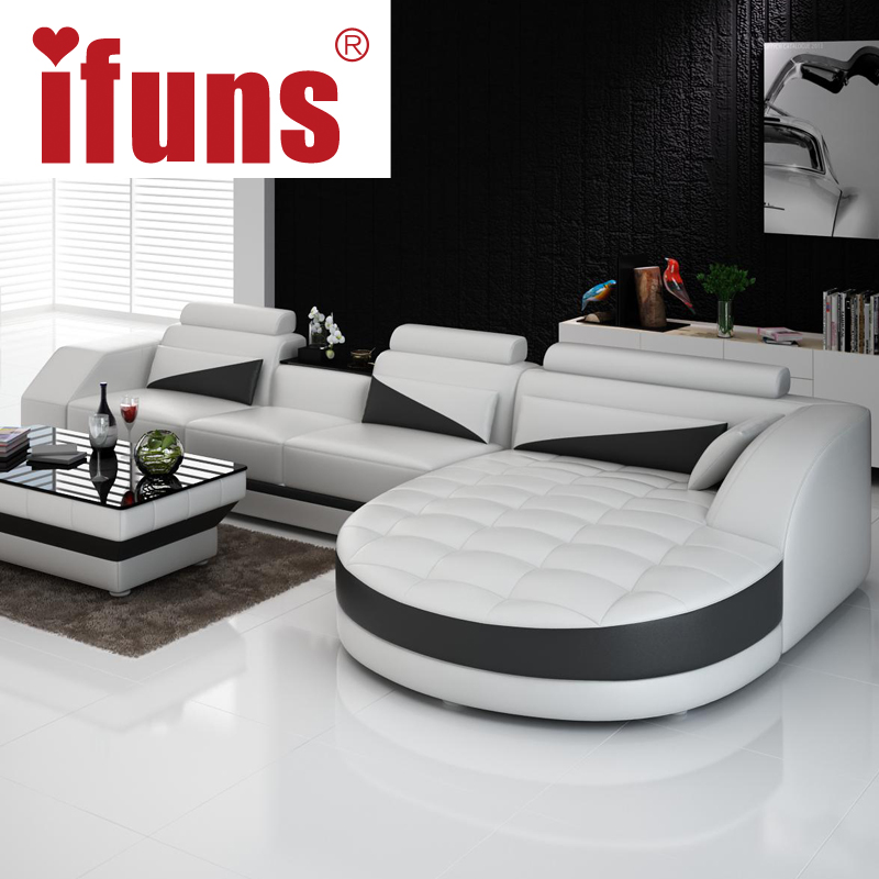 Aliexpress.com : Buy IFUNS Black U0026 White Modern European Furniture,luxury  Quality Leather Sofas,l Shape Sectional Sofa Set From Reliable Sectional  Sofas ...