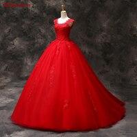 Красный Кружево Бальные платья сладкий 16 Платья для женщин для 15 лет маскарад бальное платье Quinceanera платья продажа Vestidos De 15 anos