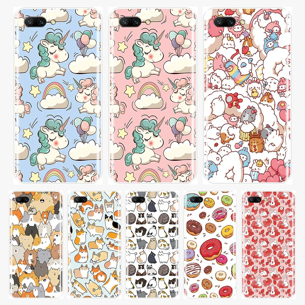 Silicone TPU Phone Case For Huawei <font><b>Honor</b></font> 7 8 9 10 LITE Soft Back <font><b>Cover</b></font> Cute Unicorn For <font><b>Honor</b></font> <font><b>8X</b></font> MAX 10 9 8 7 7S 7X 7A 7C Pro image