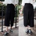 Marca caliente 2015 nueva moda de cintura alta más tamaño ocasional holgado disco harén mujeres elegante campana inferior pantalones de pierna amplia envío gratis