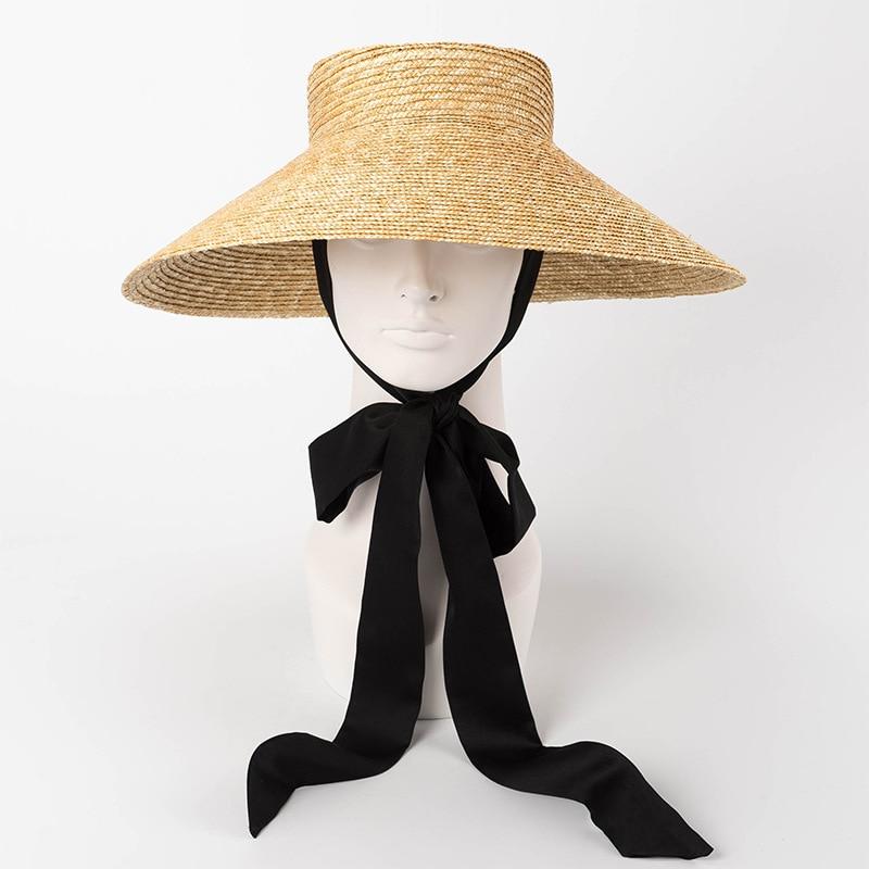 TQMSMY color sólido sombreros de verano para las mujeres sombrero de paja  playa sombrero niñas Anti 1430efd5c6e