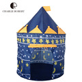 Designer Kids Tent Foldable Children Beach Teepee Casa De Juguete Baby Toy Play Game House Prince Princess Castle Tent HT2426