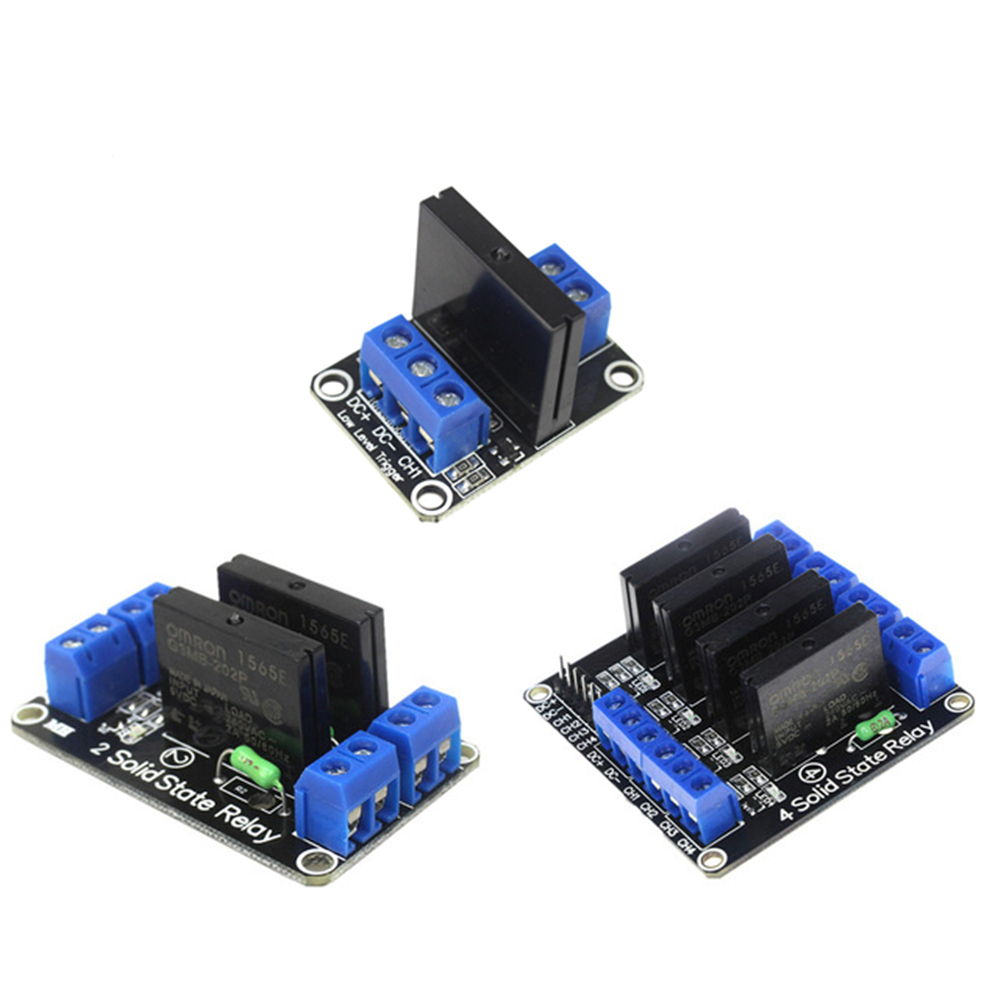 Smart Electronics 1/2/4 Channel 5V DC Relay Module Solid State Low Level G3MB-202P Relay SSR AVR DSP for arduino Diy Kit