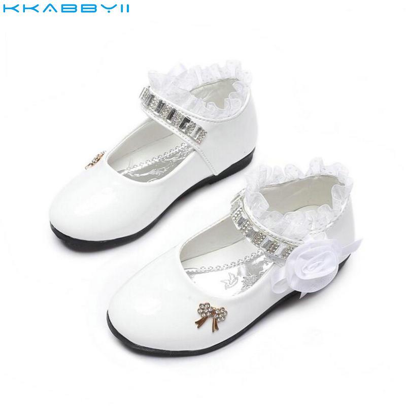 Herzhaft Kkabbyii Mädchen Pu-leder Schuhe Herbst Partei Schuhe Für Mädchen Blume Hochzeit Kinder Einzelnen Schüler Blume Prinzessin Baby Schuhe