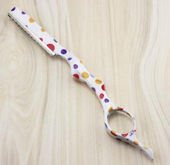 Profesjonalne nożyczki 2 w 1 farba wodna nożyczki do włosów nożyce do cieniowania nożyczki fryzjerskie nożyczki fryzjerskie bezpłatne shiping tanie i dobre opinie Włosy nożyczek STAINLESS STEEL J311 Japonia 440c Degażówki Fire Dragon 6cr13 about 15cm