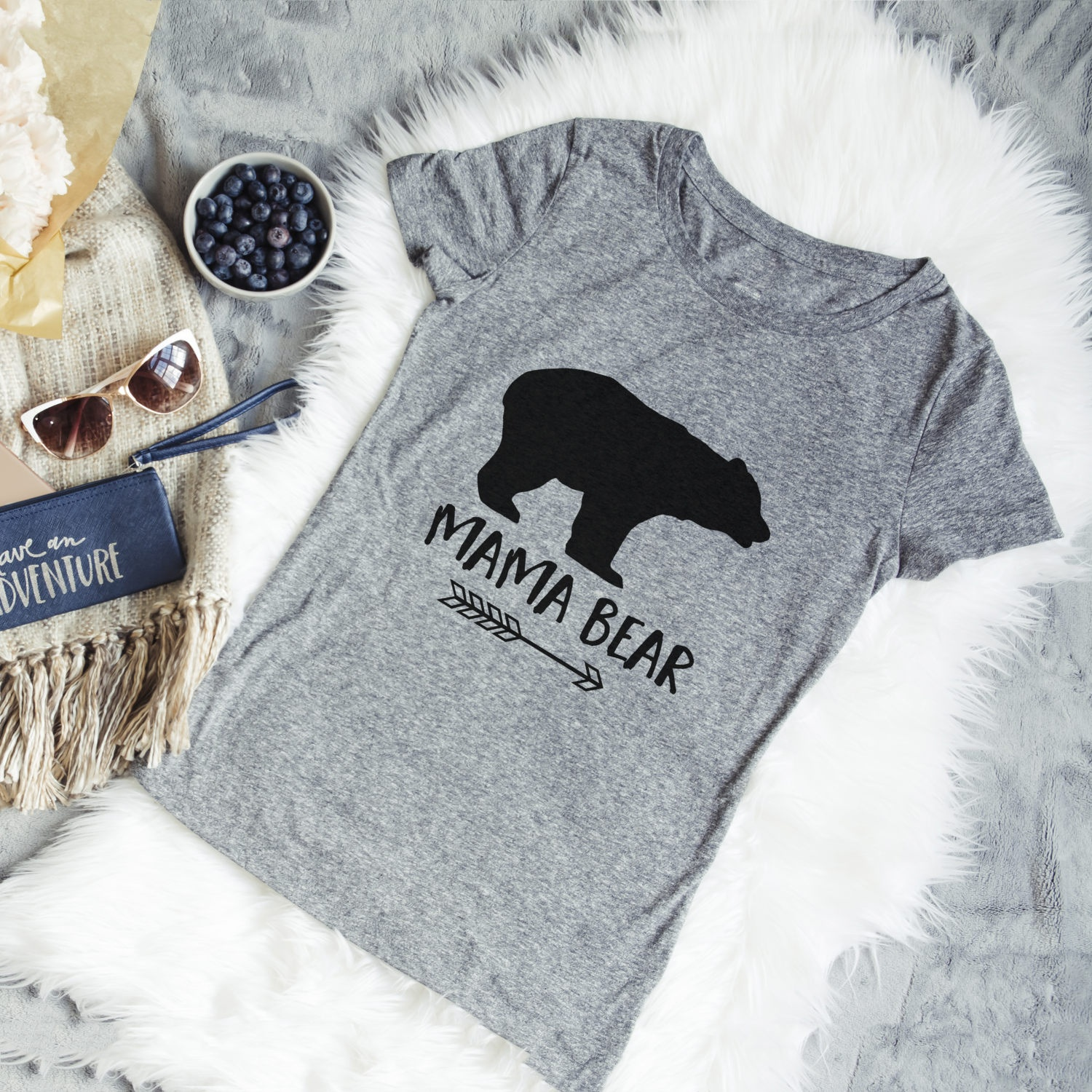 2018 New Arrival Mama Bear Shirt Gift For Mom Mom life Tee Women Pregnant Shirt Funny Co ...