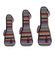ZONAEL 21 23 26 Inch Double Strap Hand Folk Canvas Ukulele Carry Bag Cotton Padded Case