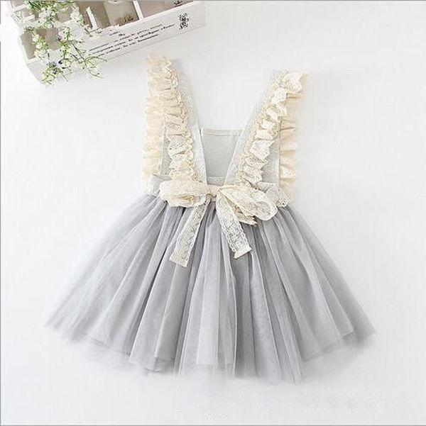 Flower Girls Princess font b Dress b font Kids Baby Party Wedding Pageant Lace font b