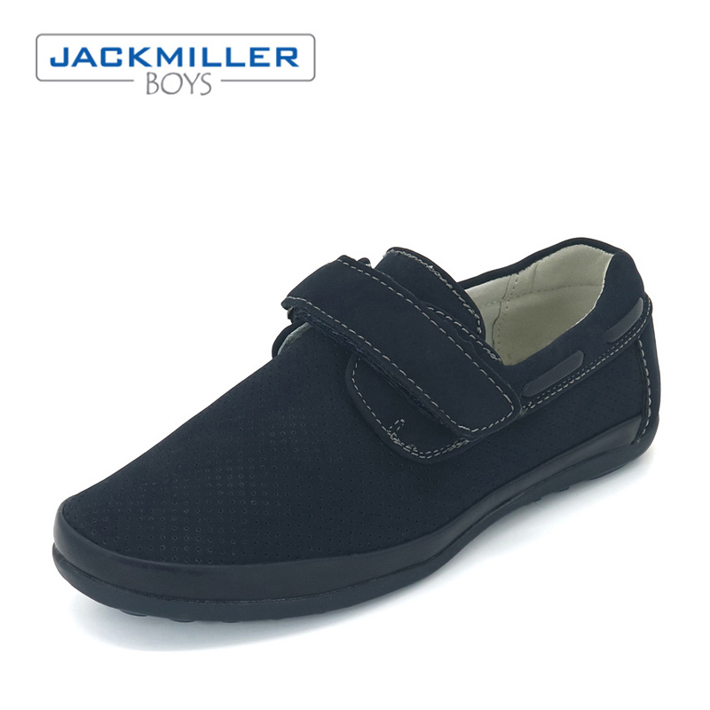 Jackmillerboys children boy Shoes breathable Dress flats Blue loafer PU Leather kid School Students Shoes Russian size 31-36