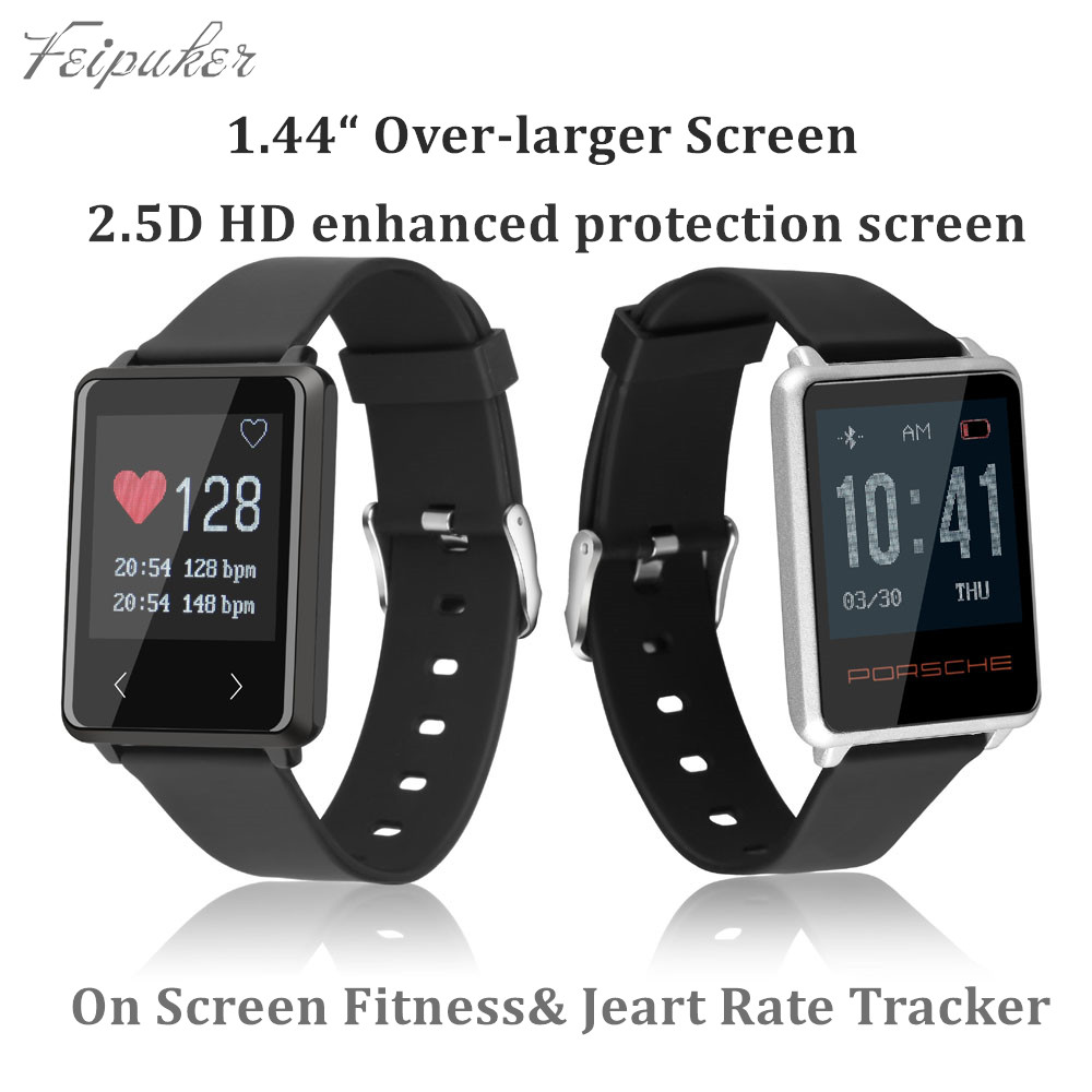 Feipuker TK002 Smart Wristband Original IP67 Heart Rate Monitor Long standby Fitness for Android IOS PK