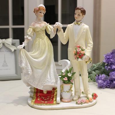 Ballerine fille équitation cheval cadeau de mariage le cadeau de mariage artisanat de mon meilleur ami résine statues sculpture maison mariage