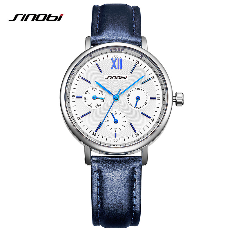 Sinobi Women Ladies Fashion Wrist Watch Clock Leather Strap Gold Quartz Woman 'S Watches Female Casual Watch Reloj Mujer Xfcs лонгслив printio все нормально я ниндзя