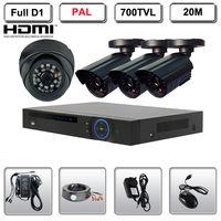 4 CH H 264 CCTV DVR 4 Outdoor Indoor 700TVL Security Surveillance Camera System