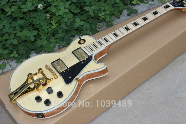 Cheap Wholesale custom DIY electric guitar lp colour  of paragraph of EMS free shipping Tremolo