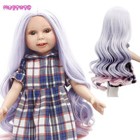 MUZIWIG New Arrival Ombre Hair Big Wave Wig for 18 inches America Girl Doll