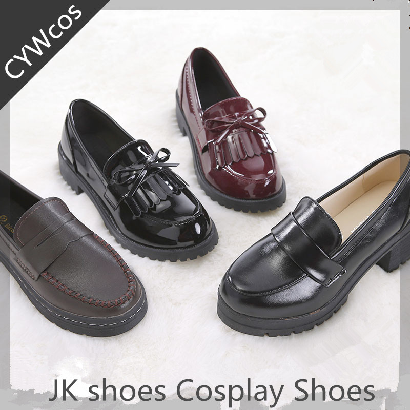 Japanese JK <font><b>shoes</b></font> Women Cosplay Uniforms <font><b>Shoes</b></font> School Student <font><b>Lolita</b></font> <font><b>Shoe</b></font> Many Color For Choose Daily Girls <font><b>Shoes</b></font> image