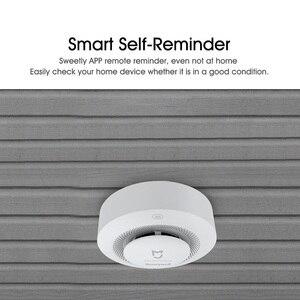 Image 5 - Oryginalny Xiaomi Mijia Honeywell detektor alarmu pożarowego Alarm dźwiękowy i wizualny praca z bramą czujnik dymu inteligentny pilot domowy
