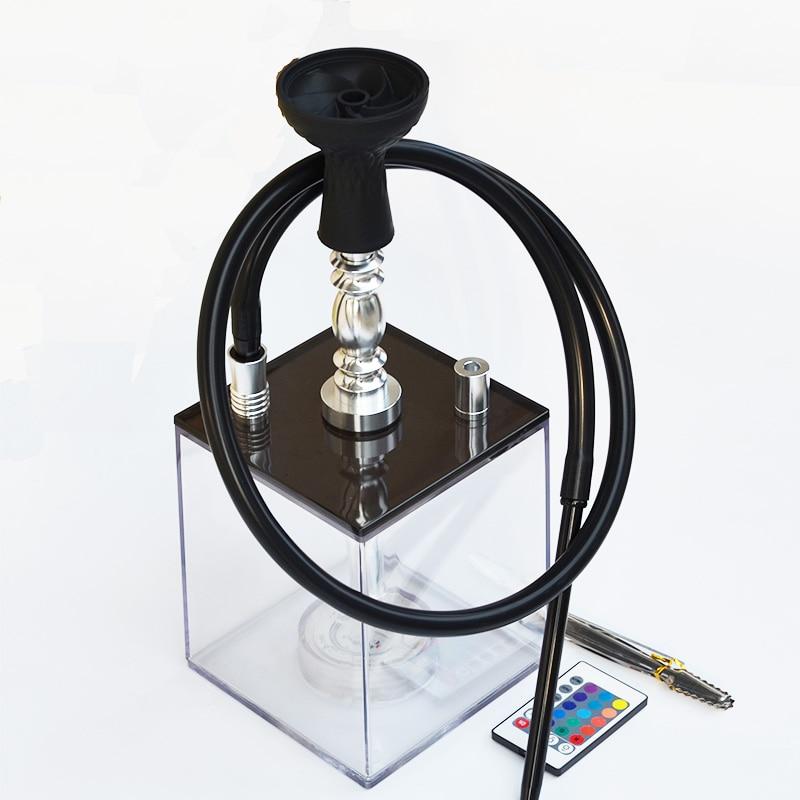 US $36 5 40% OFF New Design Acrylic Shisha Hookah Set With Led Light Shisha  Hose Charcoal Tongs Hookah Bowl Narguile Cachimba-in Shisha Pipes &