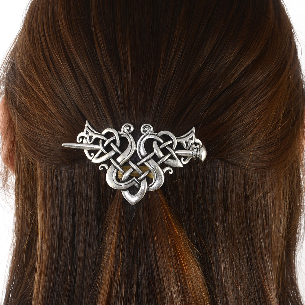 Norse Knots Viking Hair Sticks Runes Dragons Hairpin Vintage Metal Stick Slide Hair Clips Women Hair Jewelry Accessories Gifts