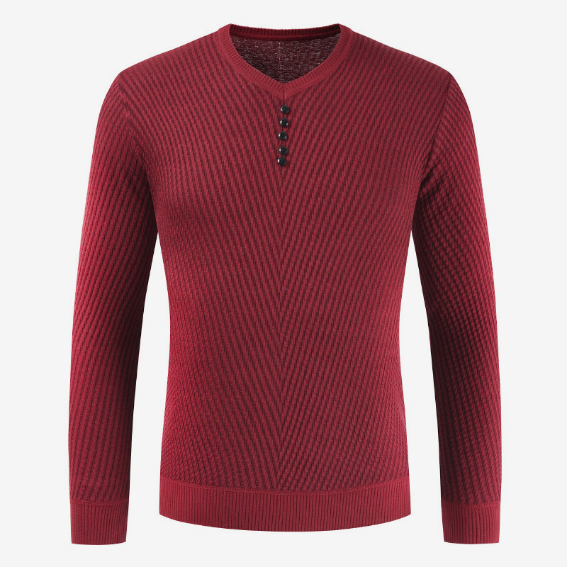 Knitted Sweaters Men V-Neck Pullovers Men's Slim Fit Shirt Cashmere Wool Pull Homme 2019 Autumn Winter Male Casual Sweater Tops