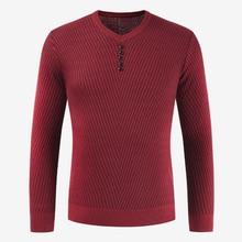 Вязаный свитер мужской пуловер с вырезом в виде буквы V мужская приталенная рубашка кашемировая шерсть Pull Homme Осень Зима Мужской Повседневный свитер