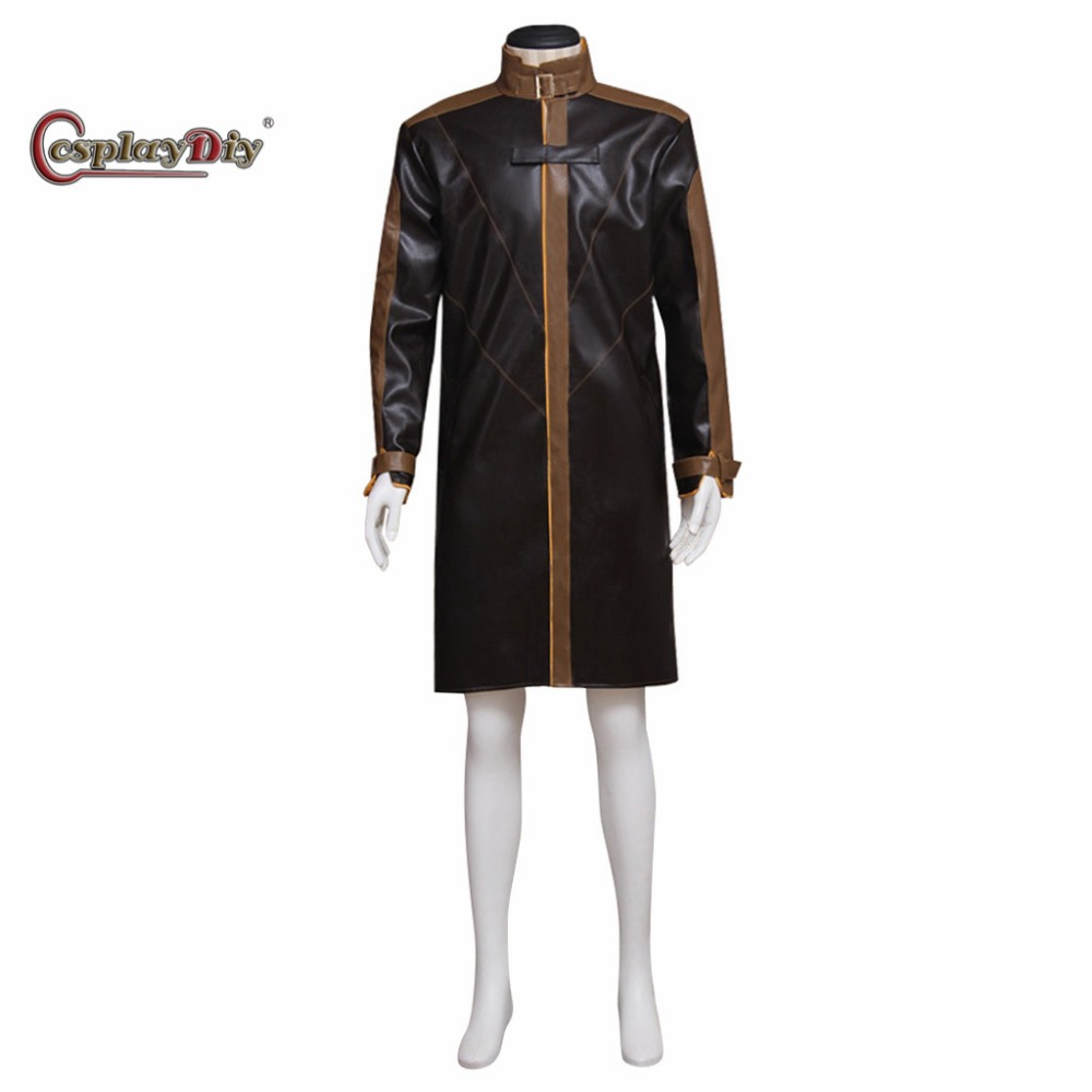 Cosplaydiy Game Watch Dogs Aiden Pearce Wind Jacket Coat + Hat Adult Men Halloween Carnival Cosplay Clothes Custom Made J10