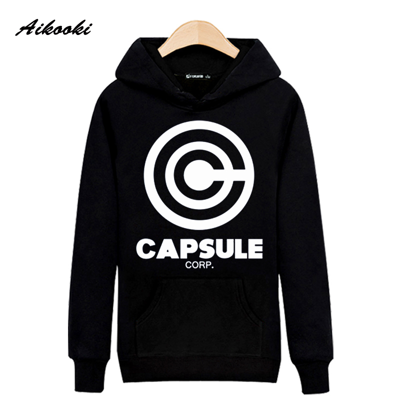 Dragon Ball Capsule Funny Hoodies Mens Hoodies and Sweatshirts High Quality black Gray Skateboards Baseball Sportwear Hooded