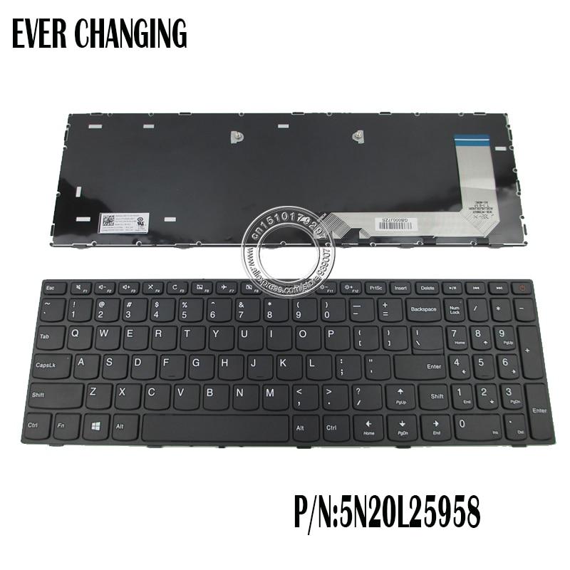 bcb82c82f56 New for lenovo ideaPad 110-15ISK English US laptop keyboard No backlit with  frame black P/N:5N20L25958 V6386A-US
