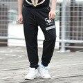 Новая Осень Свободно Случайные Плюс Размер 6XL Брюки Мужчины Толстые Печатные Брюки Широкую Ногу Бегунов Штаны Pantalones Hombre # JD6756