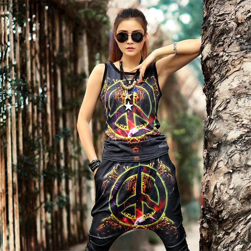 just be never hip hop women suits 2 pieces set vest and pants cherish peace against