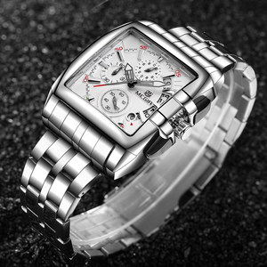 Image 4 - Mens שעונים למעלה מותג יוקרה Megir הכרונוגרף & תאריך אוטומטי עמיד למים נירוסטה רצועת חיצוני ספורט שעון יד שעון