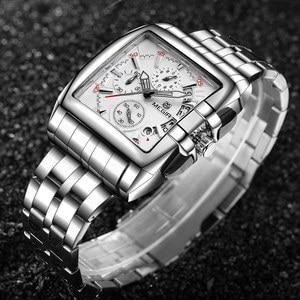 Image 4 - Mens Watches Top Brand Luxury Megir Chronograph & Auto Date Waterproof Stainless Steel Strap Outdoor Sport Wrist Watch Clock