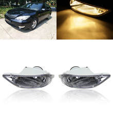 1 Pair 12V Yellow Fog Lights For Toyota Camry 02-04/ Corolla 05-08/ Solara 02-03(China)