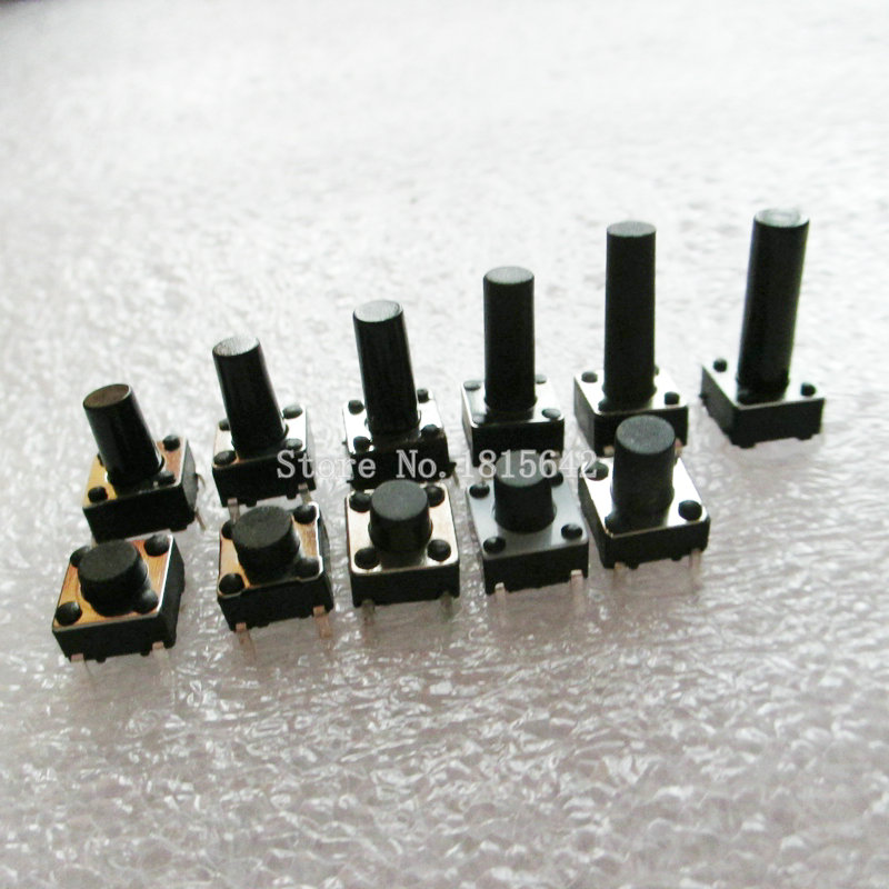 50PCS/LOT 6*6*12mm For Tact Switch Push Button Tactile Pushbutton LCD Screen Monitor 6X6X12MM