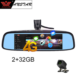 Автомобильный видеорегистратор ANSTAR 8 ''с зеркалом заднего вида, 4G, Android 2 ГБ + 32 ГБ, HD 1080 P, камера ночного видения, GPS, WIFI, ADAS, регистратор, 2019