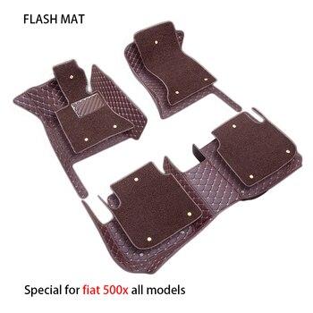Special car floor mats for fiat all models fiat 500x freemont palio albea panda car accessories car mats