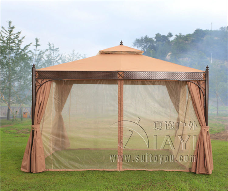 3*3.6 meter high quality no rust durable outdoor gazebo tent patio shade pavilion garden canopy rain protection furniture house 3 3 6 meter pc board high quality durable garden gazebo grace outdoor tent canopy fashion aluminum sun shade pavilion