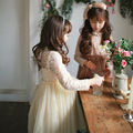 Niños Princesa Del Cordón Nuevo Vestido Coreano de la Gasa Común Partido Patrón Niño infantil Ropa Niños Ropa 2 Color