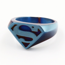 Fashion Jewelry Stainless Steel Classic Batman Ring for Men Stainless Steel Ring Blue New Arrival Superman Rings Wholesale