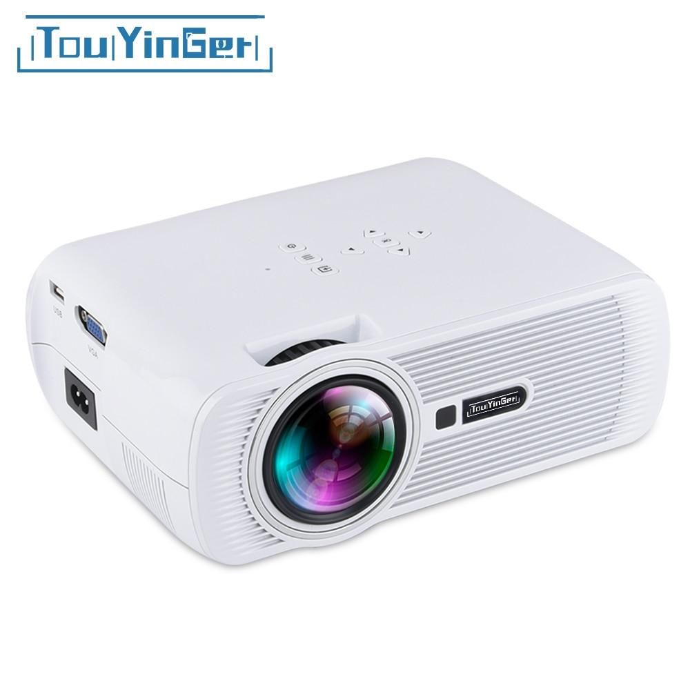 Dropshipping Everycom X7 plus Mini Projektor LED TV Beamer Miracast Airplay Wifi Optional 1800 Lumen Tragbare LCD Heimkino