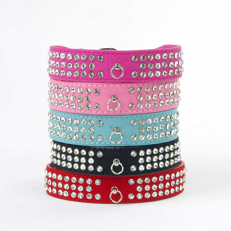 Bling Pet Dog Collars Rhinestone Necklace Puppy Dog Leashes And Collars For Dogs Pet Collar Neck Strap Dog Accessories Petshop