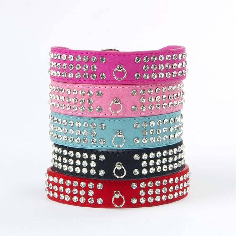 Bling Pet Dog Collars Rhinestone Halskjede Puppy Dog Bånd og Krager For Hunder Pet Collar Neck Strap Hund Tilbehør Petshop